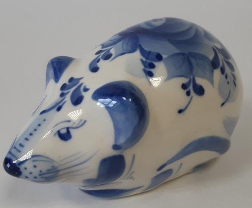 Скульптура Мышь синяя