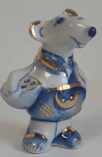 Скульптура Крысеныш синий